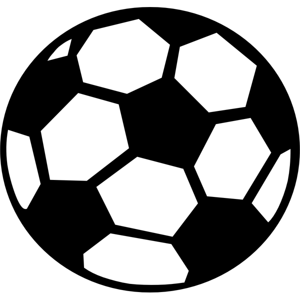 Vector image of soccer ball