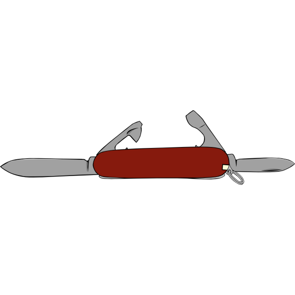 Brown Swiss army knife vector image