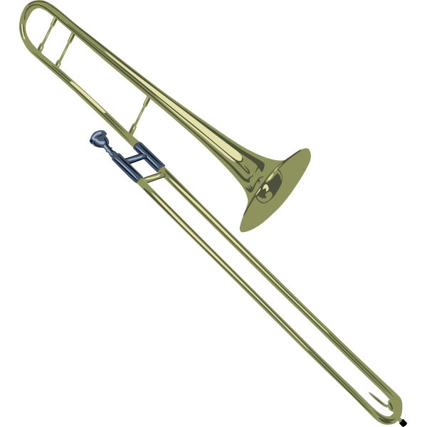 Vector image of trombone