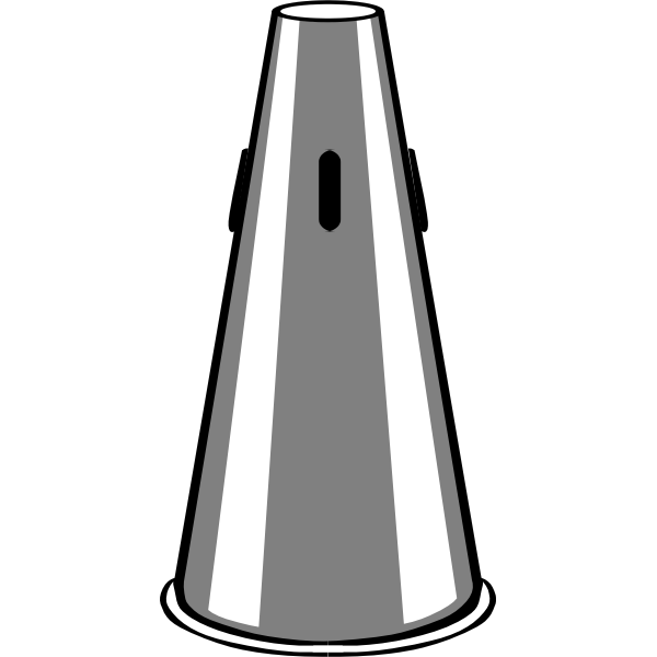 Vector image of straight mute trumpet