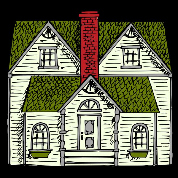 Victorian House vector art