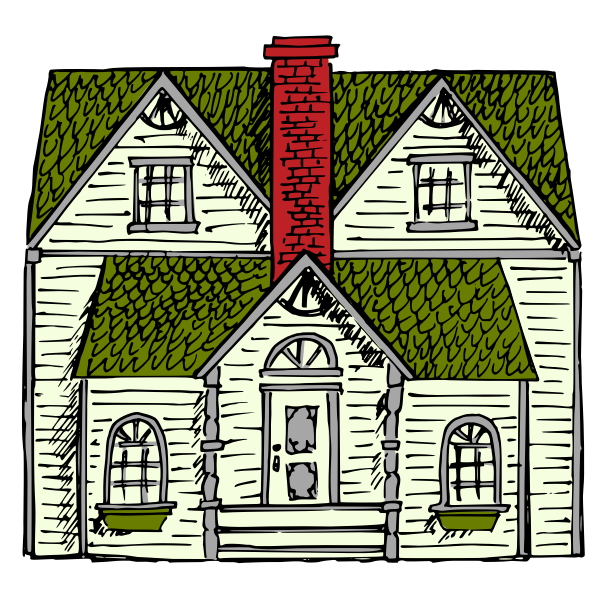 Victorian House vector art