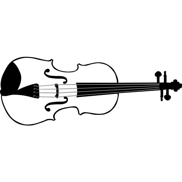 Vector graphics of violin