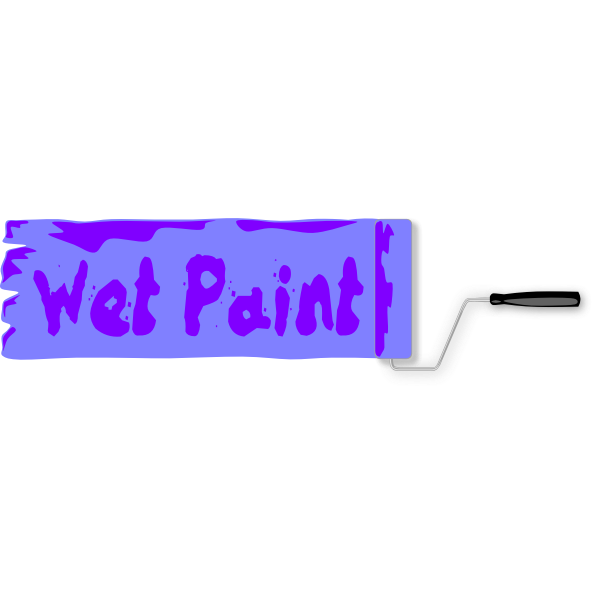 Wet paint sign vector image