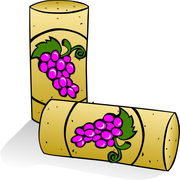 Vector drawing of cork stopper for a wine bottle