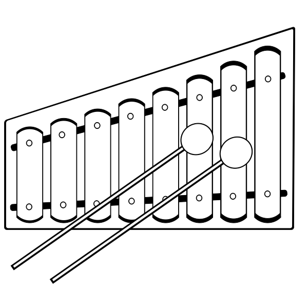 Vector graphics of xylophone
