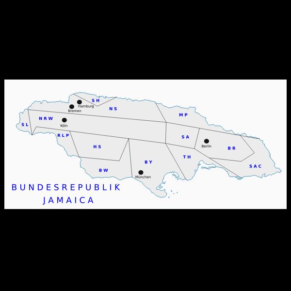 German New  Map