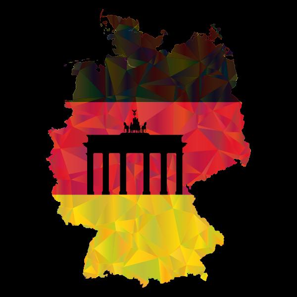 Germany Map Flag 3