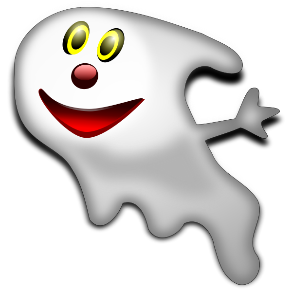 Halloween smiling ghost vector graphics