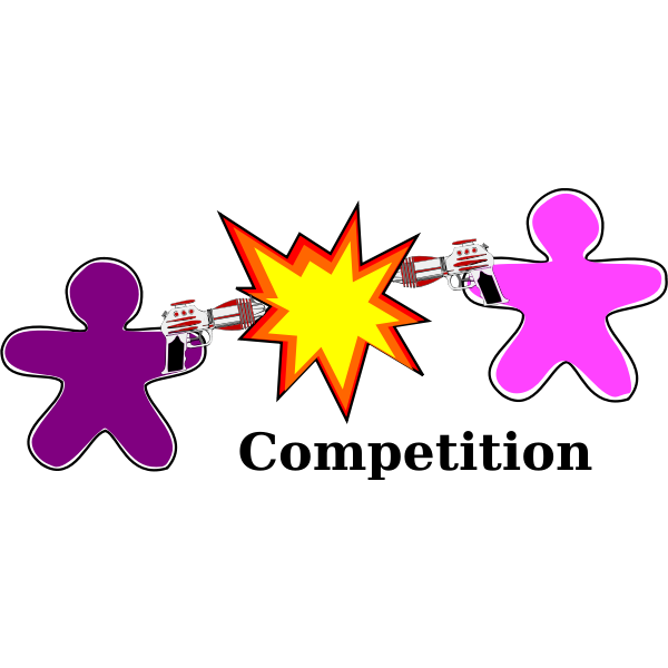 Gingerbread laser fight vector graphics