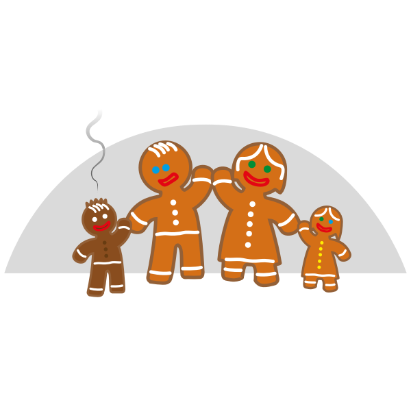 Family life of the gingerbread man