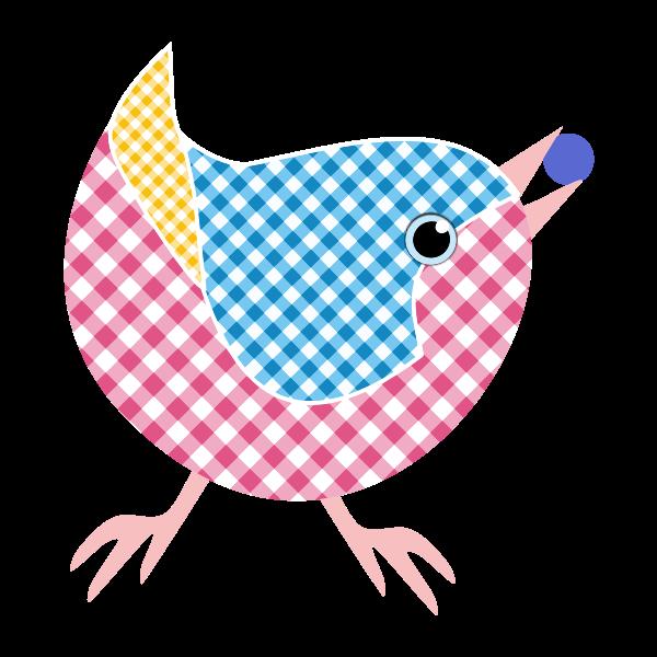 Gingham bird