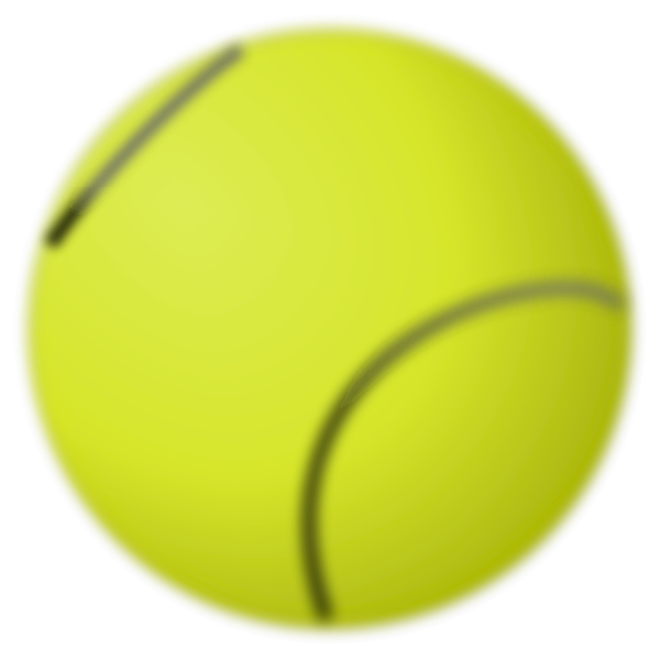 Vector image of tennis ball
