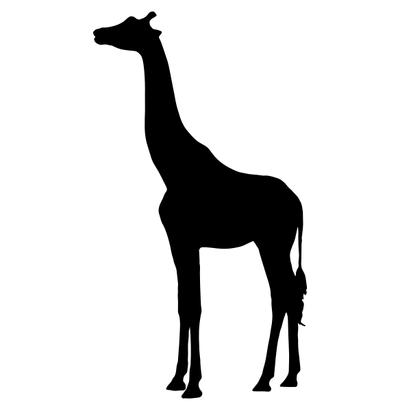 Giraffe vector silhouette