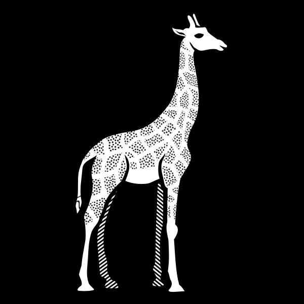 Illustration of spotty giraffe