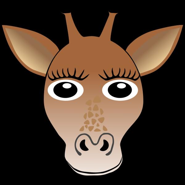 Cute giraffe head vector illustration