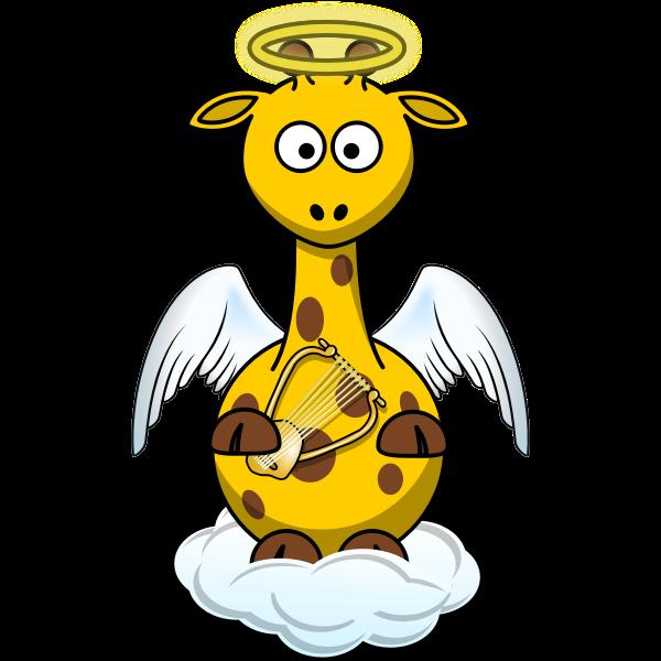 Angel giraffe vector drawing