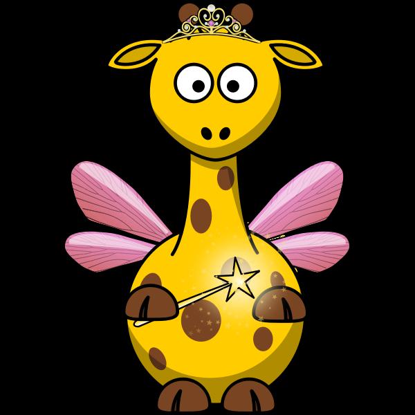 Vector clip art of fairy giraffe