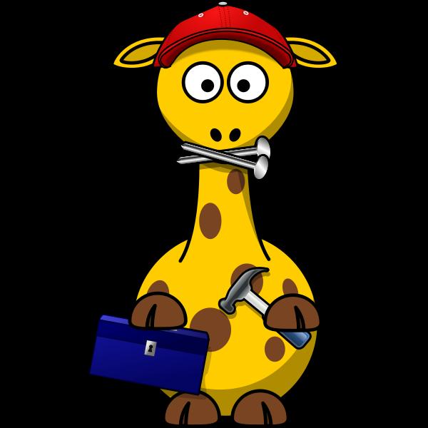 DIY man giraffe vector image