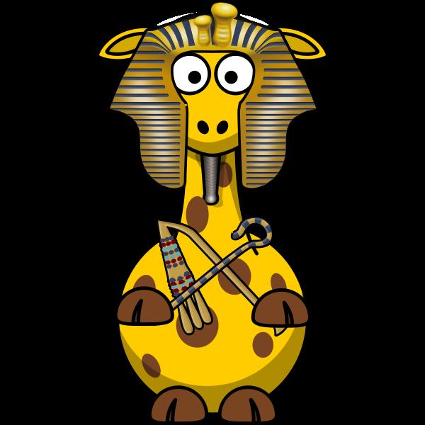 Pharao giraffe vector illustration