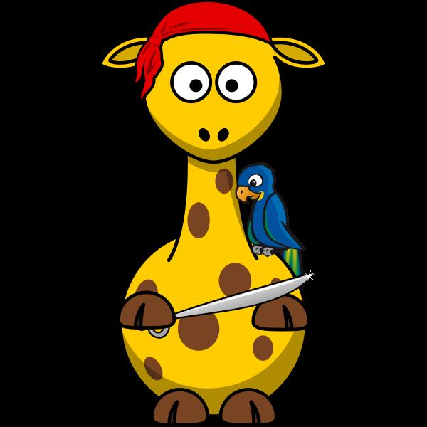 Vector image of pirate giraffe