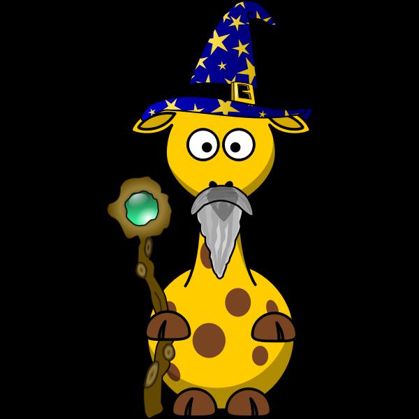 Vector graphics of magician giraffe