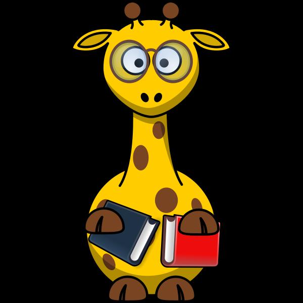 Vector clip art of nerd giraffe
