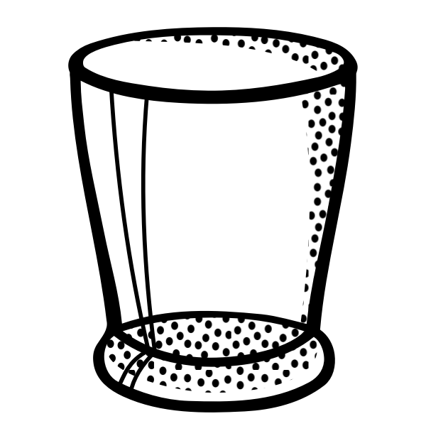 Vector illustration of clear glass water glass