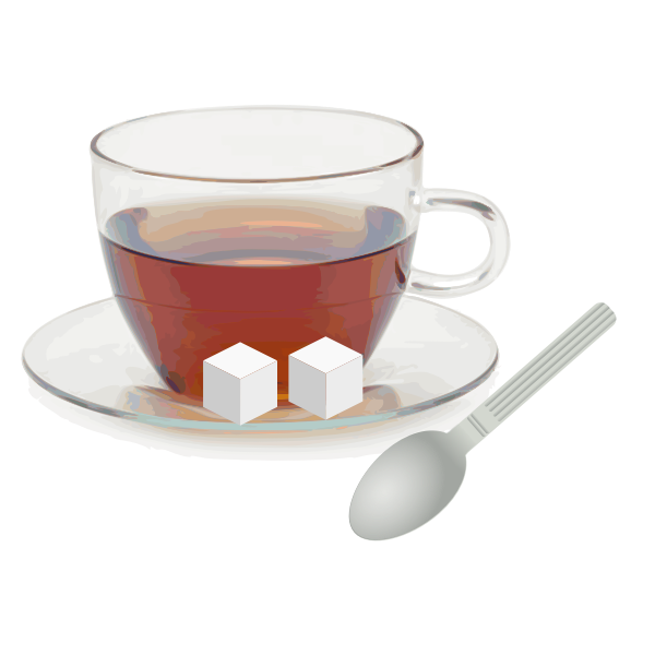 Vector illustration of cup of tea