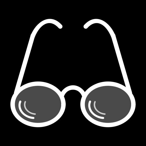 Glasses pictogram vector graphics