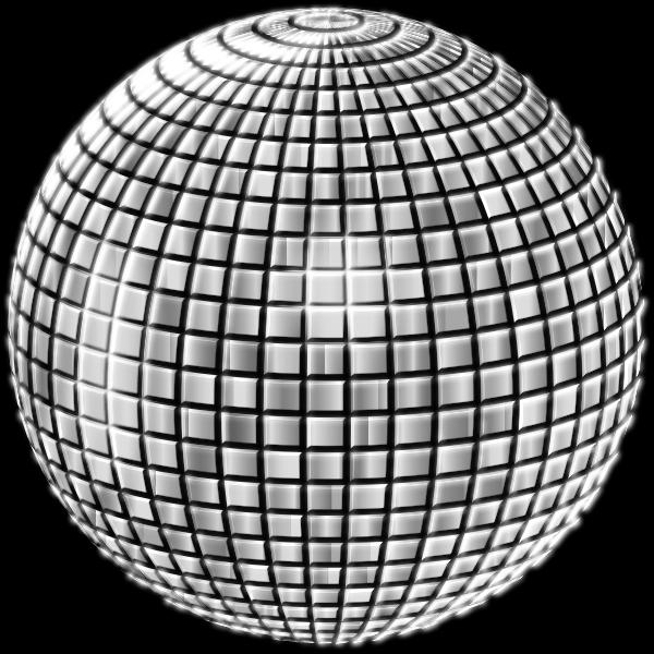 Glimmering Disco Ball Enhanced 3