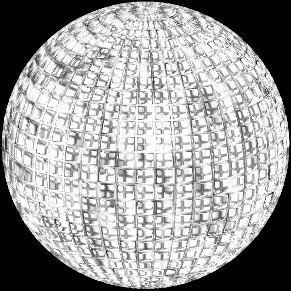 Glimmering Disco Ball Enhanced 4 No Background