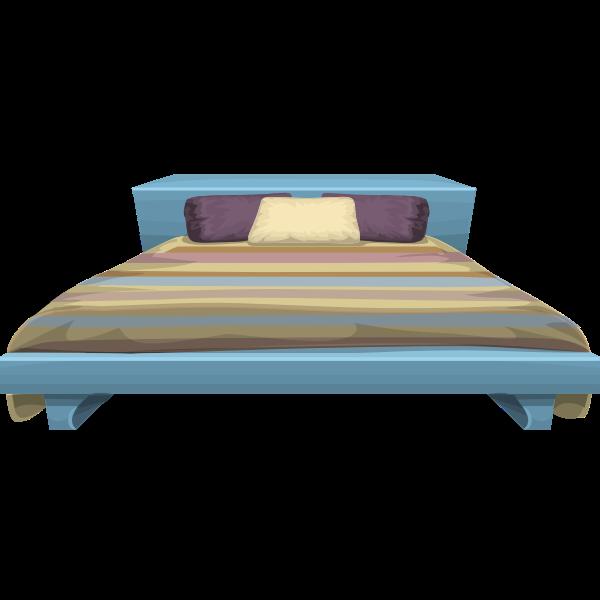 Glitch Simplified Bed Stripy