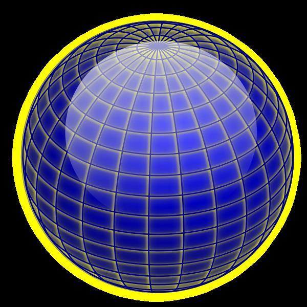 Vector clip art of shiny globe