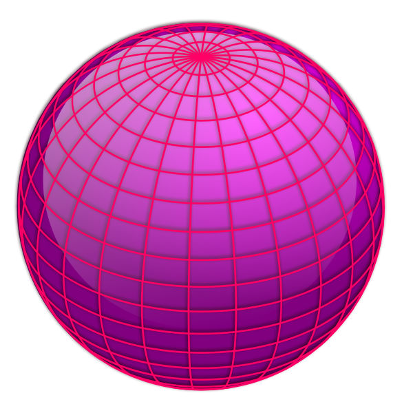 Vector image of pink globe shape
