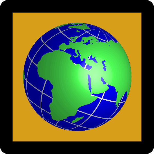Globe Icon Umber