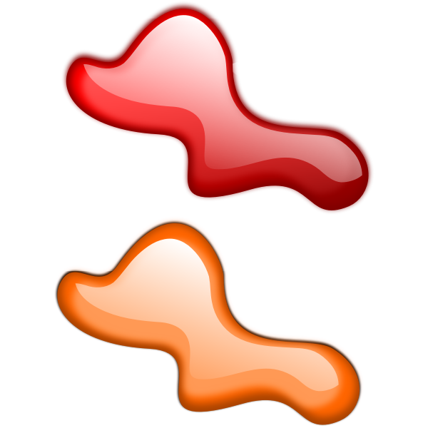 Vector clip art of red and orange drops icons