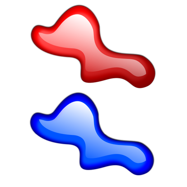 Vector graphics of droplets in air