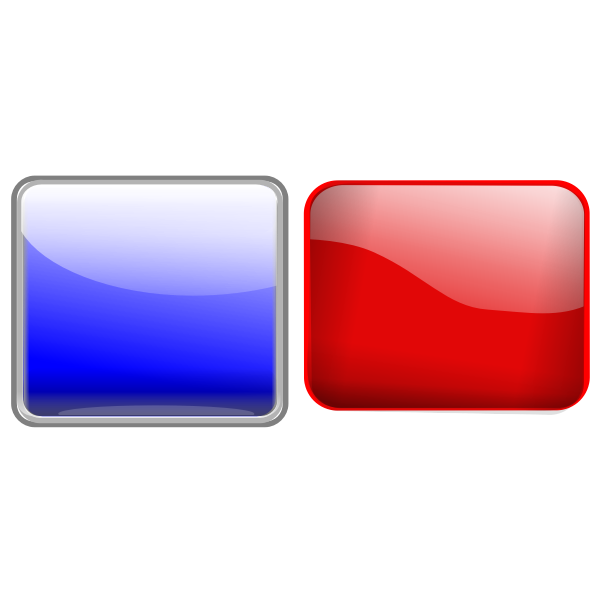 Red and blue buttons vector illustration