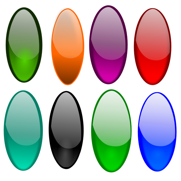 Vector image of oval shaped buttons