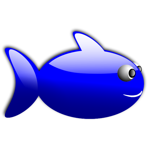 Glossy blue fish vector illustration