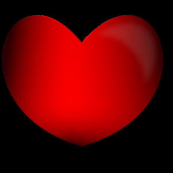 Glossy Heart Vector Image