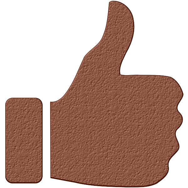 Brown thumbs up silhouette