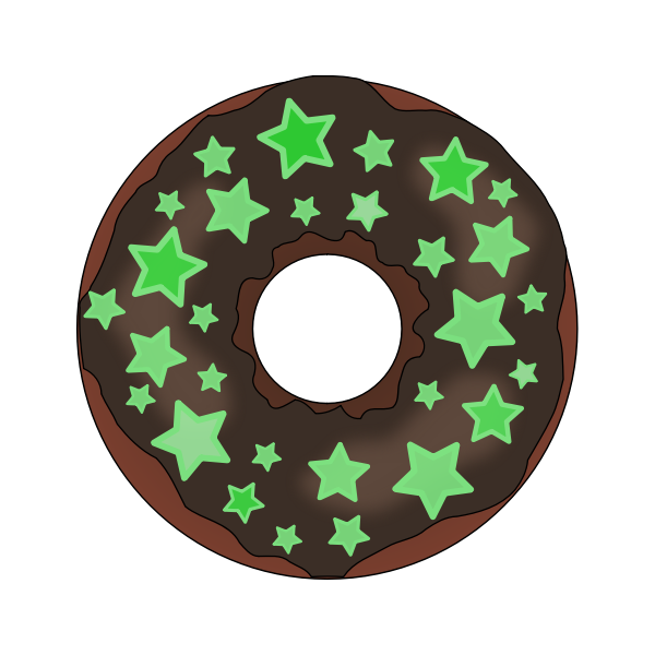 Donut with stars
