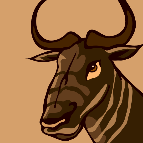 Vector graphics of gnu head