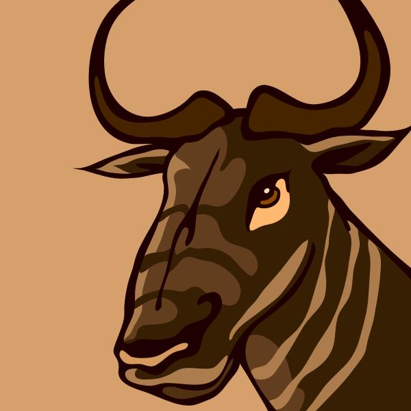 Vector graphics of gnu head
