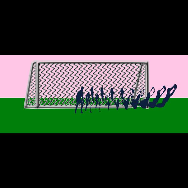 Goal soccer clear