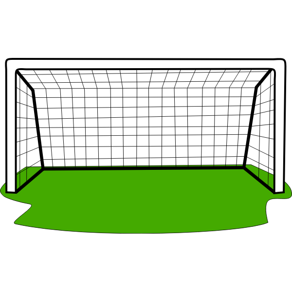 Goal with grass