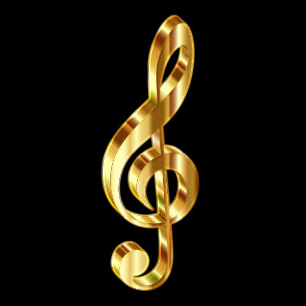 Gold 3D Clef 2 Enhanced