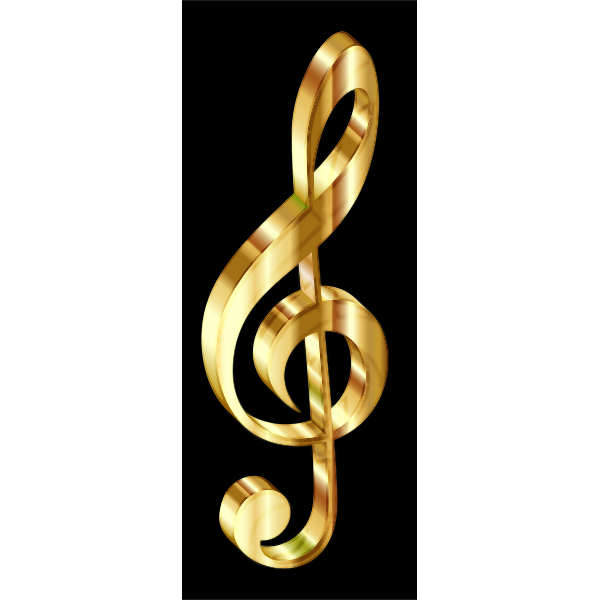Gold 3D Clef Enhanced